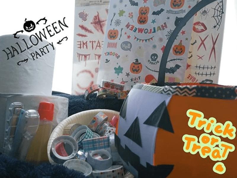 【ワンコイン500円】牛乳パックでハロウィンバケット お菓子GETの画像