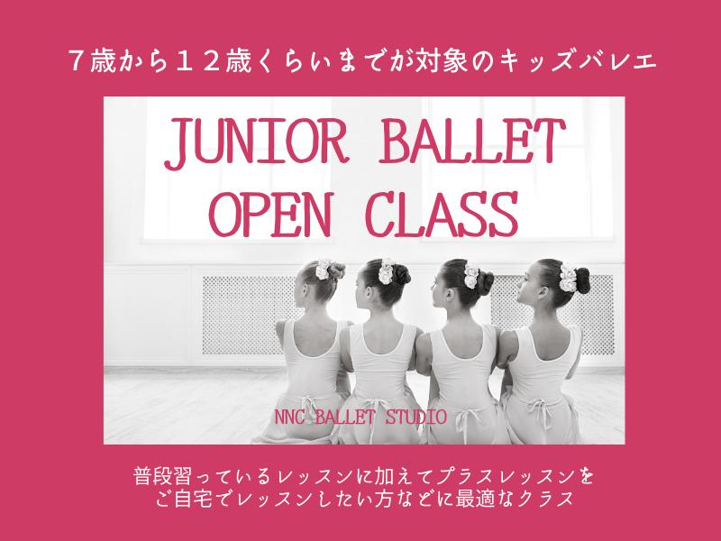 【子供バレエ】7歳から12歳を対象としたバレエオープンクラスの画像