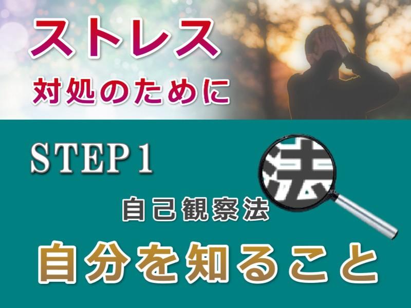 【ストレス軽減の習慣★STEP1】セルフ・モニタリングで自分を知るの画像