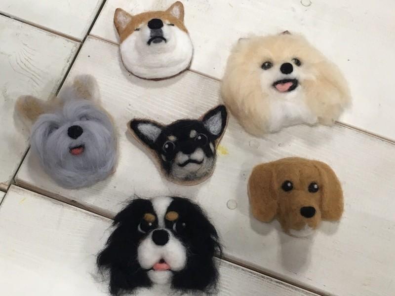 本物そっくり!羊毛フェルトでつくる愛犬・愛猫のブローチ@二子玉川の画像