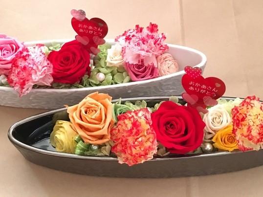 母の日プレゼント♡プリザーブドアレンジメントの画像