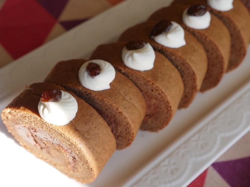 バレンタインに作る米粉の濃厚チョコレートロールケーキを作ろう!の画像