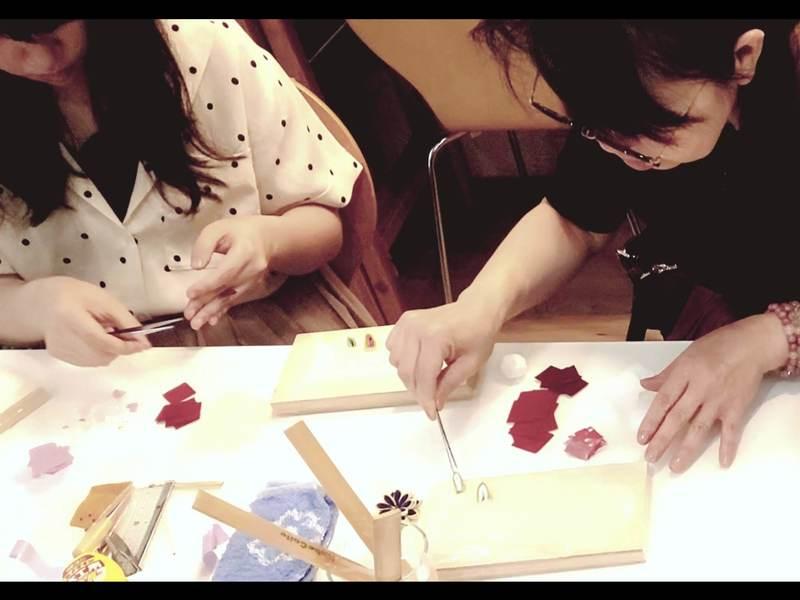 和の習い事 江戸つまみ細工 雛飾り『左近の桜』の画像