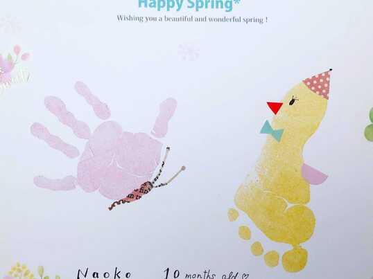 オンラインで手形足形アート!対象年齢0歳から大人までの画像