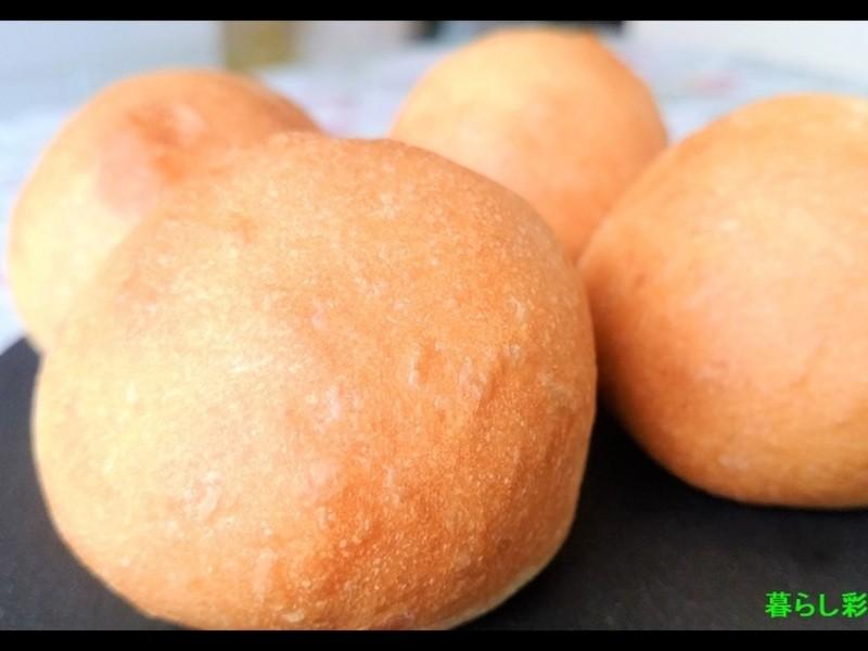 【マリトッツォにも】本みりんとレンジ発酵で1時間で焼ける丸パンの画像