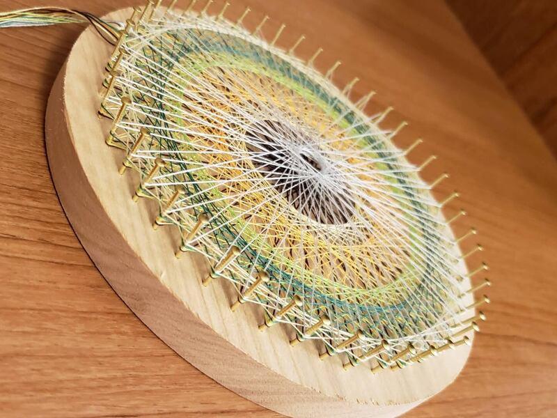 はじめてのアロマ香る糸かけ曼荼羅(まんだら)の画像