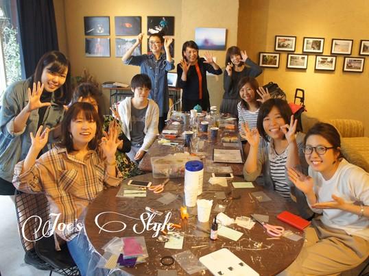 錦糸町カフェ♪ガラスカボションアクセサリーを作りませんか?☆の画像