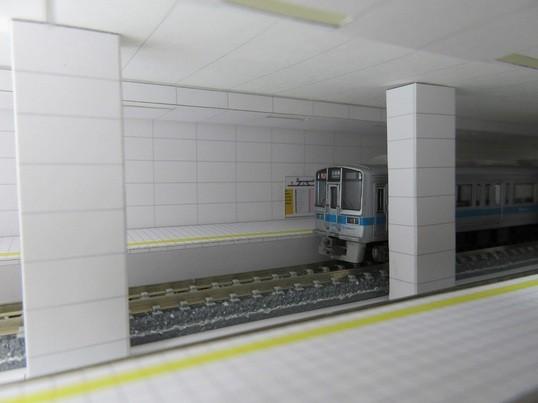 ペーパークラフト Nゲージ地下鉄対向式ホーム製作講習交流会の画像