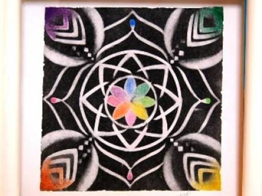 パステル曼荼羅(マンダラ)の画像