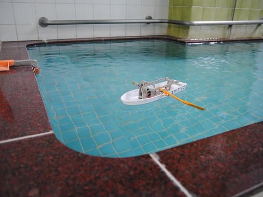 手漕ぎボートを作って銭湯で遊ぼうの画像