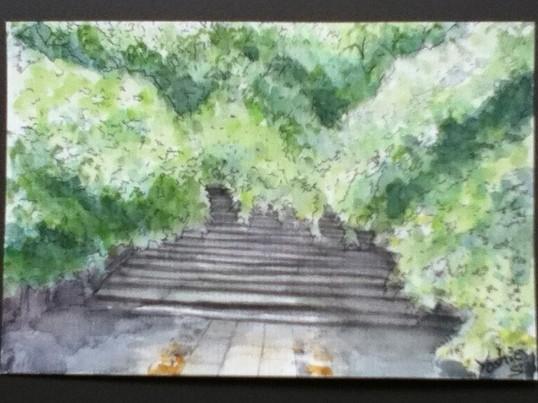 初めての水彩 風景画@阿佐ヶ谷の画像