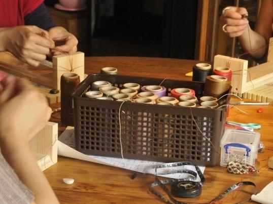 編み物マクラメ編み講座バチカンペンダントin 国分寺の画像