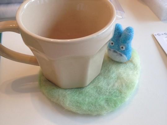 【簡単★かわいい】 羊毛フェルト体験ワークショップでコースター作りの画像