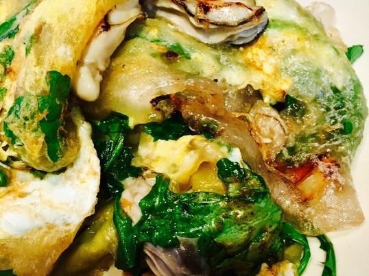 シンガポール料理【冬限定のメニュー】牡蠣オムレツを作りましょうの画像