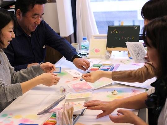 『型紙から作るパステル』チューリップ&自由創作(経験者向け)の画像