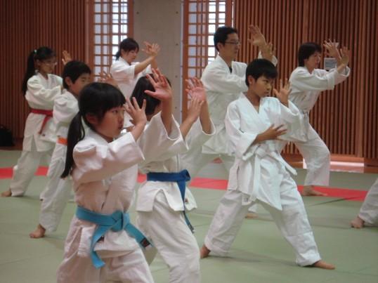 三芳町総合体育館合気道体験教室の画像