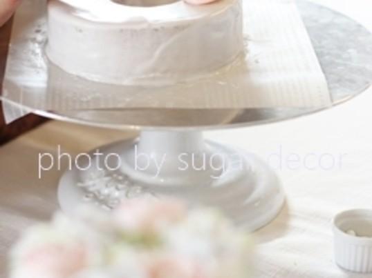 春のパーティケーキの画像