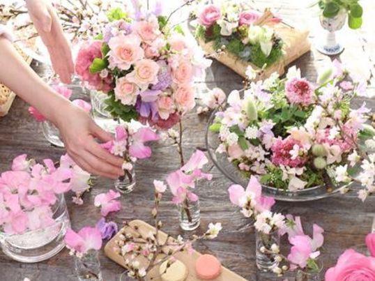 1dayレッスン「桜色のバラブーケ」を作ろうの画像