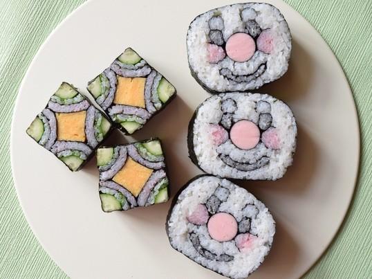 飾り巻き寿司を巻いてみよう!!の画像