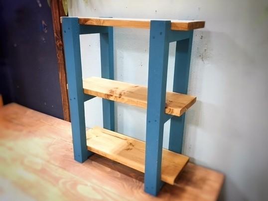【親子DIY教室】ミニサイズの3段シェルフの画像