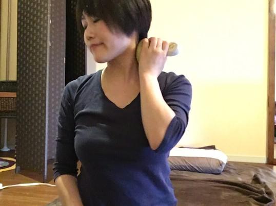 ハーブ温灸で肩こり・首こり改善の画像