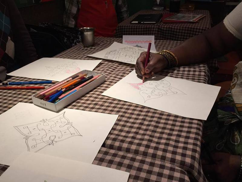南インドのお店で絵を描こうの画像