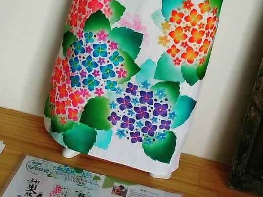 染色アート(型染友禅)&デザイン書道でアートな手ぬぐいを作ろう!の画像