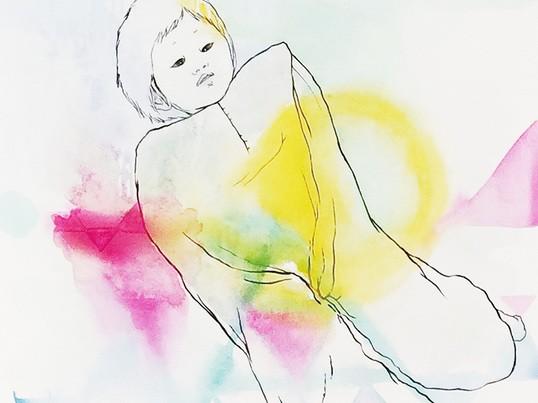 パウル・クレーの油彩転写の画像