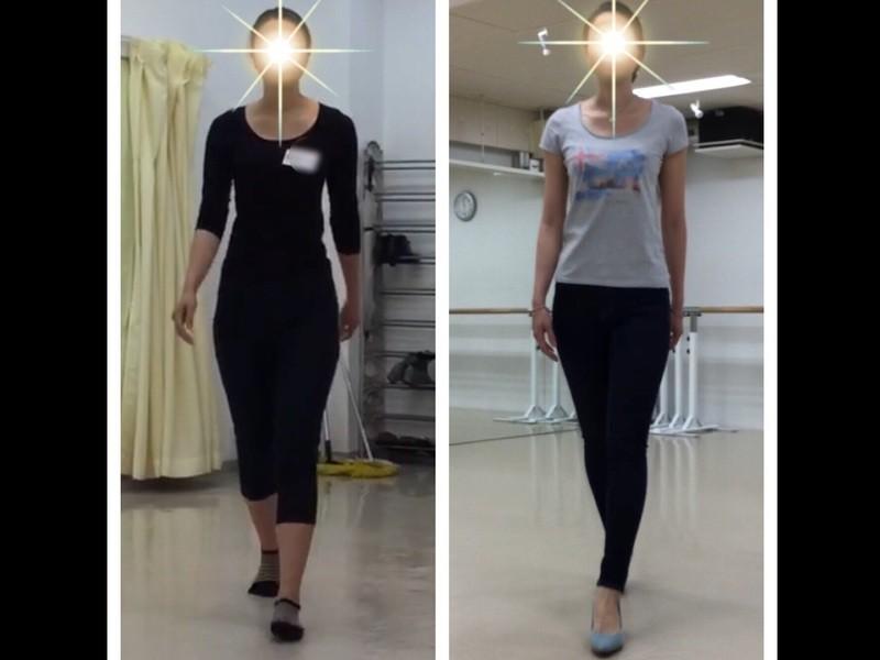 姿勢を変えて「見た目」と「体型」を変えるウォーキングレッスンの画像