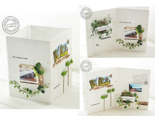 オシャレに写真を飾るウッドブック~ウェルカムボードやインテリアに~の画像