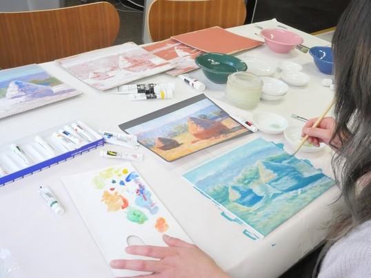現役の美術作家が教える模写講座 「自由制作!」の画像