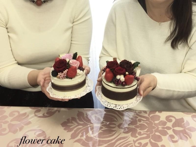 プリザーブドフラワーで作るフラワーケーキ♡の画像