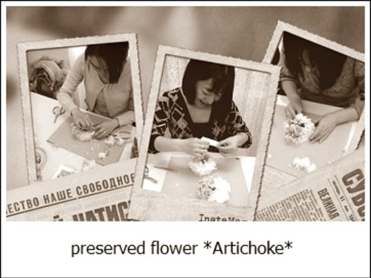 咲き続けるお花でプリザーブドフラワー・ミニフレームリースの画像