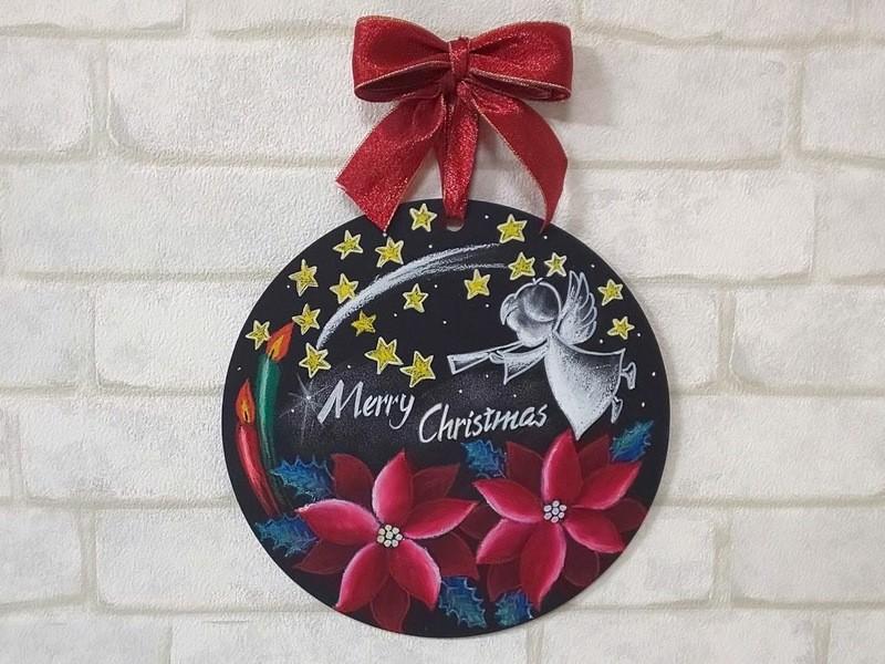 【クリスマス】初心者でも上手に描けちゃう!チョークアート超基礎講座の画像