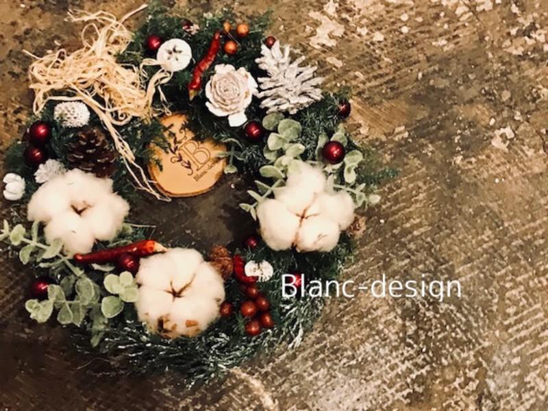 満員御礼☆【2018年限定】フレッシュベースのクリスマスリースの画像