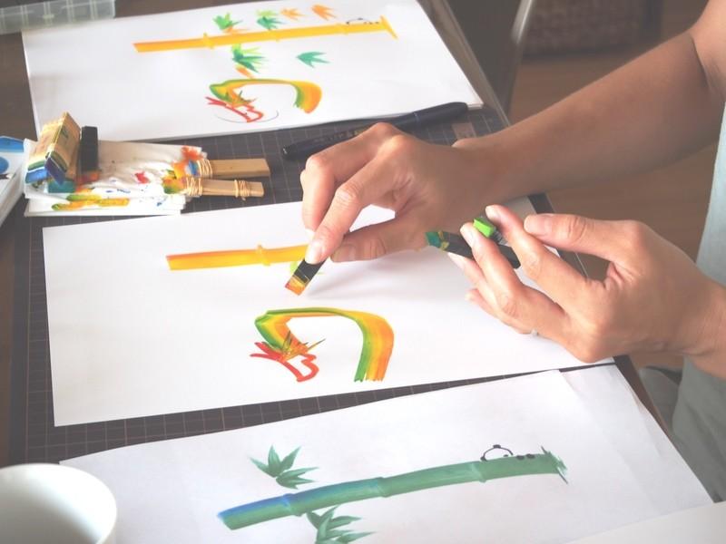 【女性限定】はじめでも描ける 花叶文字体験会の画像
