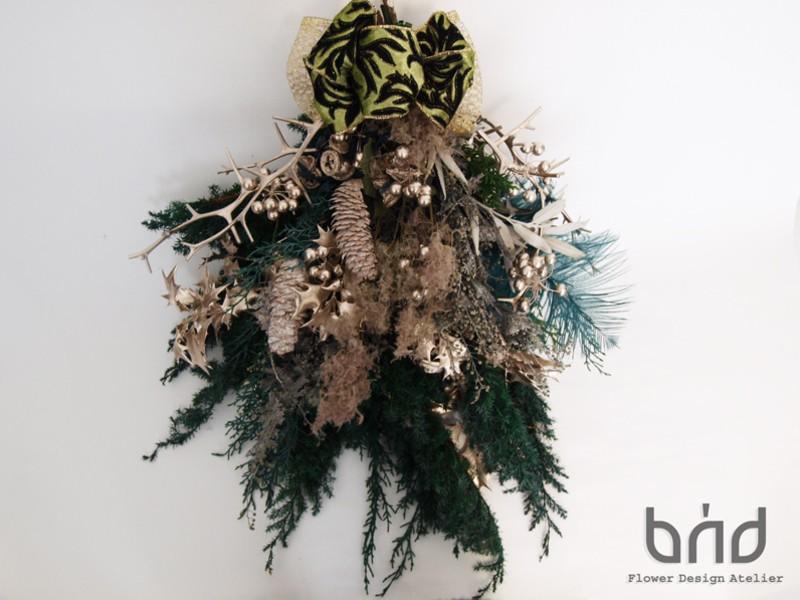 【BUDクリスマスレッスン】ノルウェーの森のXmasスワッグの画像