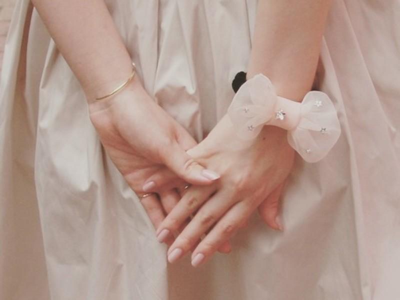 手縫いで作るふわふわりぼんシュシュの画像