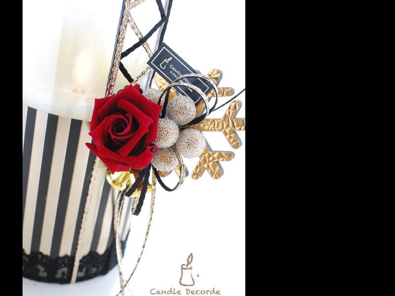 「BLACK ×GOLD クリスマス」のキャンドルデコーデ®体験の画像