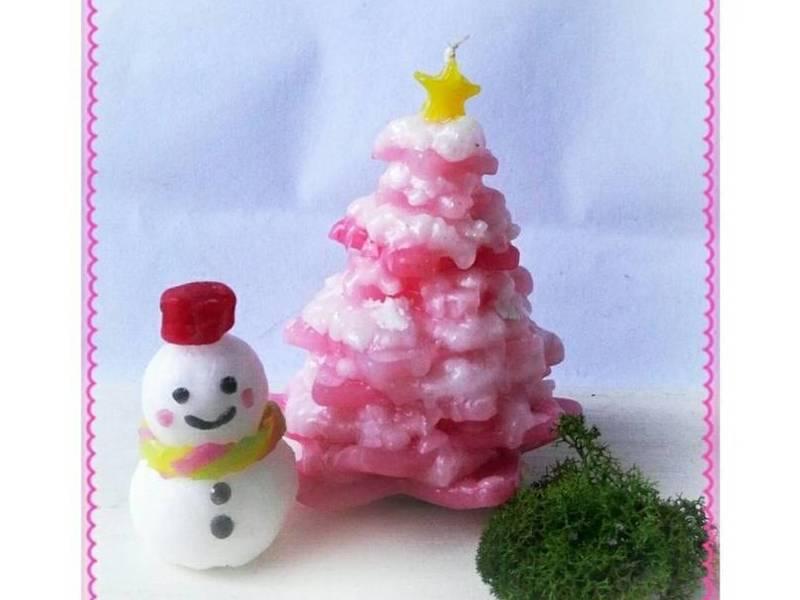 可愛い!クリスマスキャンドル作りの画像