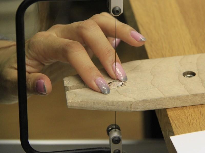 【彫金】シルバーのフープピアスチャームを作ろう♪の画像