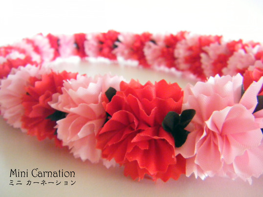 ☆Mini Carnation☆のんびりリボンレイを楽しみましょうの画像