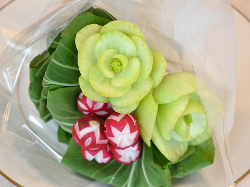 【野菜彫刻ブーケ】を作るレッスン♪の画像