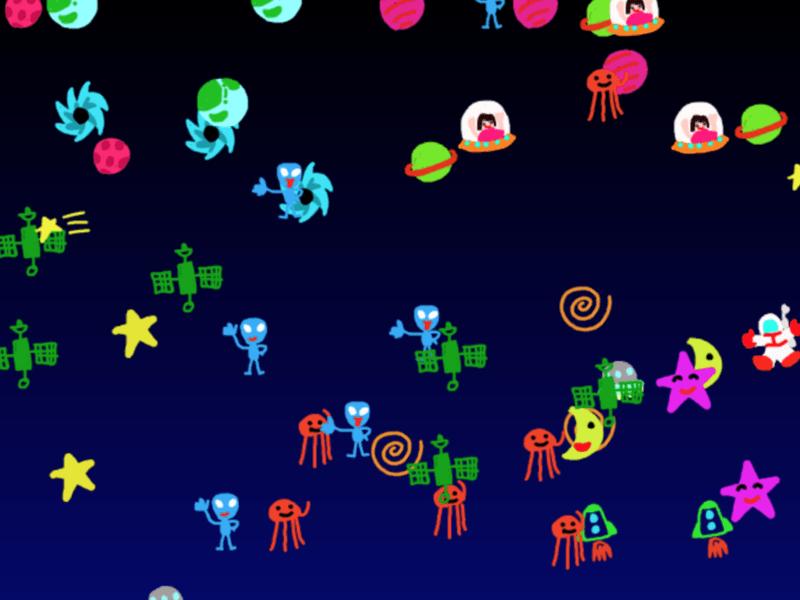 3歳からのプログラミング!みんなで宇宙空間を作ろうの画像