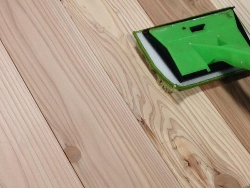 【床のリノベーション】無垢のフローリングに床用塗料で塗装するの画像