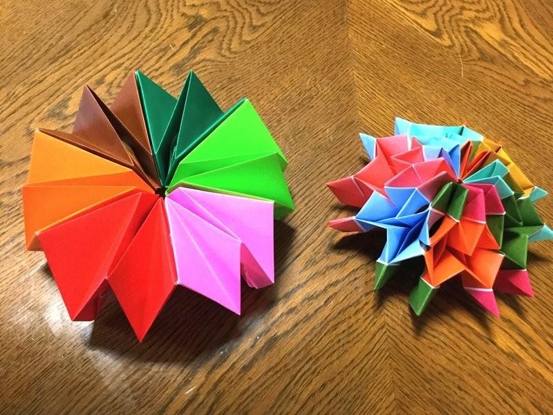 遊べる折り紙「花火」の画像