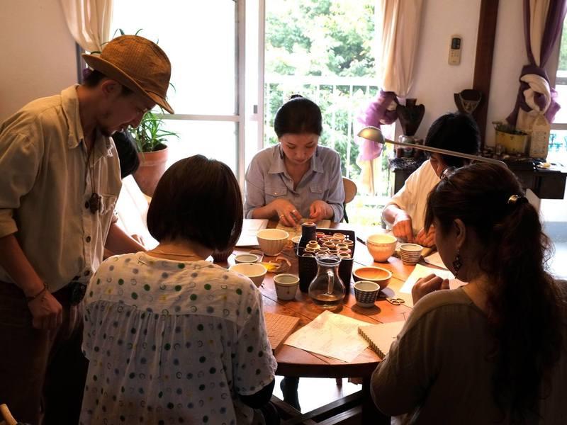 国分寺・天然石を包むマクラメ編み講座バチカンペンダントヘットの画像
