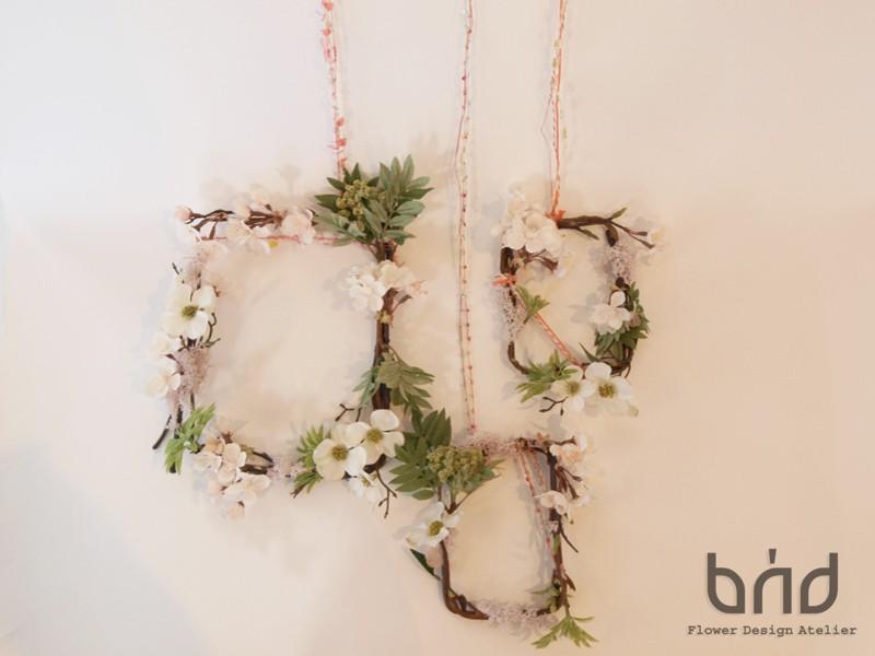 BUDフラワーレッスン4月 「桜のフォト/カードフレーム」の画像