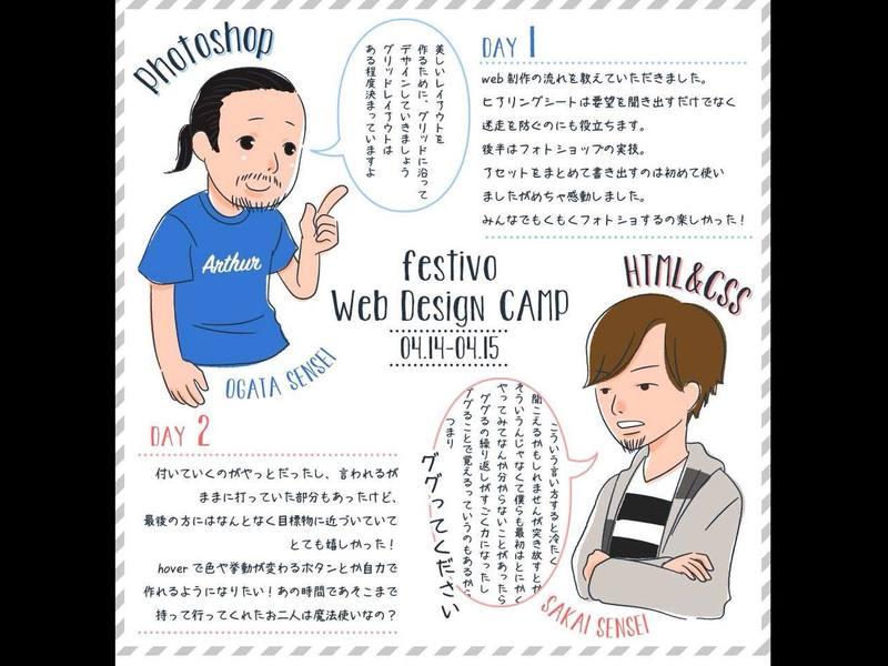 【初心者向】ウェブデザインを学ぶ15時間、1時間1700円以下の画像