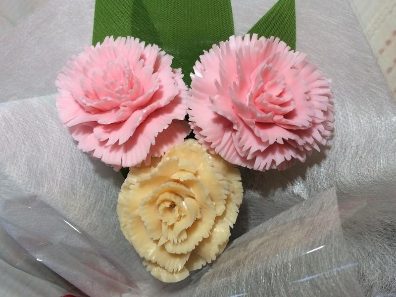 『母の日』にソープで「カーネーション」の花束を作りませんか?の画像